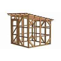 Каркас сарая шириной 2,44 метра позволяет без помех перемещаться внутри постройки, не вынимая или не переставляя садовый инвентарь и инструмент с места на место.<br /> Идеально подходит для хранения инвентаря, инструментов, газонокосилки, велосипеда или даже мопеда или скутера.<br /> Сарай этой модели поможет вам освободить  чердак, при этом его размеры составляют всего 0,0625 сотки!