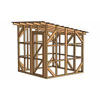 Каркас сарая шириной 2,44 метра позволяет без помех перемещаться внутри постройки, не вынимая или не переставляя садовый инвентарь и инструмент с места на место.<br/> Идеально подходит для хранения инвентаря, инструментов, газонокосилки, велосипеда или даже мопеда или скутера.<br/> Сарай этой модели поможет вам освободить чердак, при этом его размеры составляют всего 0,0625 сотки!