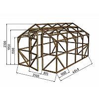 Каркас деревянный для теплицы, курятника и прочих строений на участке.<br /> Преимущества:<br /> - компактный размер ширина 2.5 м, высота 2.3 м, длина 4 м.<br /> - транспортировка теплицы в салоне легкового автомобиля<br /> - позволяет использовать различный укрывной материал (поликарбонат, пленку, стекло).