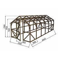 Каркас деревянный для теплицы, курятника и прочих строений на участке.<br /> Преимущества:<br /> - компактный размер ширина 2.5 м, высота 2.3 м, длина 6 м.<br /> - транспортировка теплицы в салоне легкового автомобиля<br /> - позволяет использовать различный укрывной материал (поликарбонат, пленку, стекло).