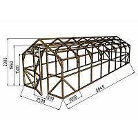 Каркас деревянный для теплицы, курятника и прочих строений на участке.<br /> Преимущества:<br /> - компактный размер ширина 2.5 м, высота 2.3 м, длина 8 м.<br /> - транспортировка теплицы в салоне легкового автомобиля<br /> - позволяет использовать различный укрывной материал (поликарбонат, пленку, стекло).