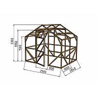 Каркас деревянный для теплицы, курятника и прочих строений на участке.<br/> Преимущества:<br/> - компактный размер ширина 2.5 м, высота 2.3 м, длина 2 м.<br/> - транспортировка теплицы в салоне легкового автомобиля<br/> - позволяет использовать различный укрывной материал <br/>(поликарбонат, пленку, стекло).