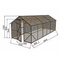 Полноразмерная теплица длиной 5 метров, позволяет выращивать приличный урожай. Подходит как для начинающих, так и для опытных садоводов.