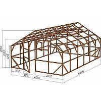 Каркас деревянный для теплицы, курятника и прочих строений на участке.<br/> Преимущества:<br/> - оптимальный размер ширина 4,0 м., высота 2,65 м., длина 6,04 м.<br/> - транспортировка комплекта каркаса с помощью легкового автомобиля<br/> - позволяет использовать различный укрывной материал<br/> (поликарбонат, пленку, стекло).