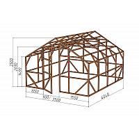 """Каркас деревянный для теплицы, курятника и прочих строений на участке.<br/> Преимущества:<br/> - оптимальный размер ширина 3,5 м., высота 2,5 м., длина 4,04 м.<br/> - конструкция """"ДОМИК"""" со скошенной крышей, минимальная снеговая нагрузка.<br/> - транспортировка комплекта каркаса с помощью легкового автомобиля.<br/> - позволяет использовать различный укрывной материал<br/> (поликарбонат, пленку, стекло)."""