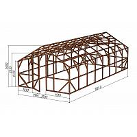"""Каркас деревянный для теплицы, курятника и прочих строений на участке.<br/> Преимущества:<br/> - оптимальный размер ширина 3,5 м., высота 2,65 м., длина 8,04 м.<br/> - конструкция """"ДОМИК"""" со скошенной крышей, минимальная снеговая нагрузка.<br/> - транспортировка комплекта каркаса с помощью легкового автомобиля.<br/> - позволяет использовать различный укрывной материал.<br/> (поликарбонат, пленку, стекло)."""