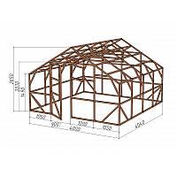 """Каркас деревянный для теплицы, курятника и прочих строений на участке.<br/> Преимущества:<br/> - максимальный размер ширина 4,0м., высота 2,65м., длина 4,04м.<br/> - конструкция """"ДОМИК"""" со скошенной крышей, минимальная снеговая нагрузка<br/> - транспортировка комплекта каркаса с помощью легкового автомобиля<br/> - позволяет использовать различный укрывной материал<br/> (поликарбонат, пленку, стекло)."""