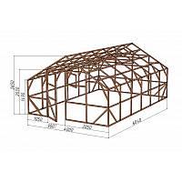 """Каркас деревянный для теплицы, курятника и прочих строений на участке.<br/> Преимущества:<br/> - максимальный размер ширина 4,0 м., высота 2,65 м., длина 6,04 м.<br/> - конструкция """"ДОМИК"""" со скошенной крышей, минимальная снеговая нагрузка.<br/> - транспортировка комплекта каркаса с помощью легкового автомобиля.<br/> - позволяет использовать различный укрывной материал<br/> (поликарбонат, пленку, стекло)."""