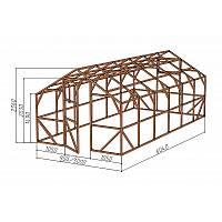 """Каркас деревянный для теплицы, курятника и прочих строений на участке.<br/> Преимущества:<br/> - стандартный размер ширина 3.0м, высота 2.36м, длина 6,04м.<br/> - конструкция """"ДОМИК"""" со скошенной крышей, минимальная снеговая нагрузка.<br/> - транспортировка теплицы в салоне легкового автомобиля.<br/> - позволяет использовать различный укрывной материал<br/> (поликарбонат, пленку, стекло)."""
