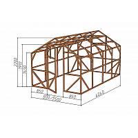 """Каркас деревянный для теплицы, курятника и прочих строений на участке.<br/> Преимущества:<br/> - компактный размер ширина 2.5 м, высота 2.3 м, длина 4,04 м.<br/> - конструкция """"ДОМИК"""" со скошенной крышей, минимальная снеговая нагрузка<br/> - транспортировка теплицы в салоне легкового автомобиля<br/> - позволяет использовать различный укрывной материал (поликарбонат, пленку, стекло)."""