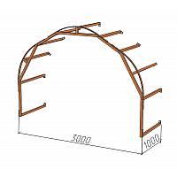 Дополнительная секция длиной 1 метр и шириной 3,0м. Предназначена для увеличения длинны стандартного каркаса на один метр.