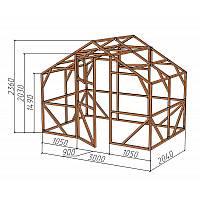 """Каркас деревянный для теплицы, курятника и прочих строений на участке.<br/> Преимущества:<br/> - стандартный размер ширина 3.0 м, высота 2.36 м, длина 2,04 м.<br/> - конструкция """"ДОМИК"""" со скошенной крышей, минимальная снеговая нагрузка.<br/> - транспортировка комплекта каркаса в салоне легкового автомобиля.<br/> - позволяет использовать различный укрывной материал<br/> (поликарбонат, пленку, стекло)."""