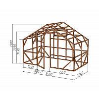 """Каркас деревянный для теплицы, курятника и прочих строений на участке.<br/> Преимущества:<br/> - оптимальный размер ширина 3,5 м., высота 2,5 м., длина 2,04 м.<br/> - конструкция """"ДОМИК"""" со скошенной крышей, минимальная снеговая нагрузка.<br/> - транспортировка комплекта каркаса с помощью легкового автомобиля.<br/> - позволяет использовать различный укрывной материал<br/> (поликарбонат, пленку, стекло)."""