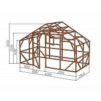 """Каркас деревянный для теплицы, курятника и прочих строений на участке.<br/> Преимущества:<br/> - максимальный размер ширина 4,0м., высота 2,65м., длина 2,04м.<br/> - конструкция """"ДОМИК"""" со скошенной крышей, минимальная снеговая нагрузка<br/> - транспортировка комплекта каркаса с помощью легкового автомобиля<br/> - позволяет использовать различный укрывной материал<br/> (поликарбонат, пленку, стекло)."""