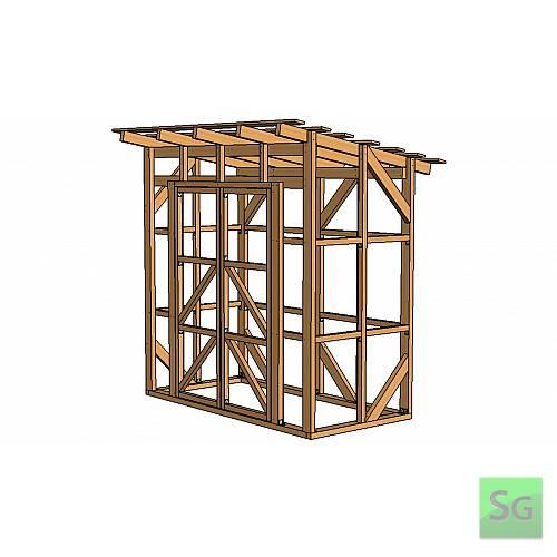 Каркас сарая 1.22х2.44 м. с дверьми 2х70 см. центр:  Каркас сарая 1.22х2.44 м. с дверьми 2х70 см. центр