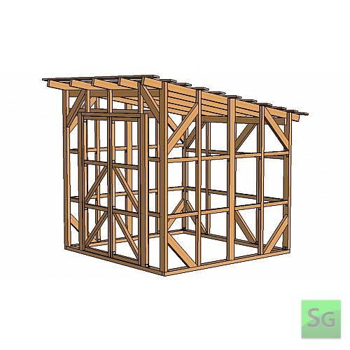 Каркас сарая 2.44х2.44 м. с дверьми 2х70 см. центр:  Каркас сарая 2.44х2.44 м. с дверьми 2х70 см. центр