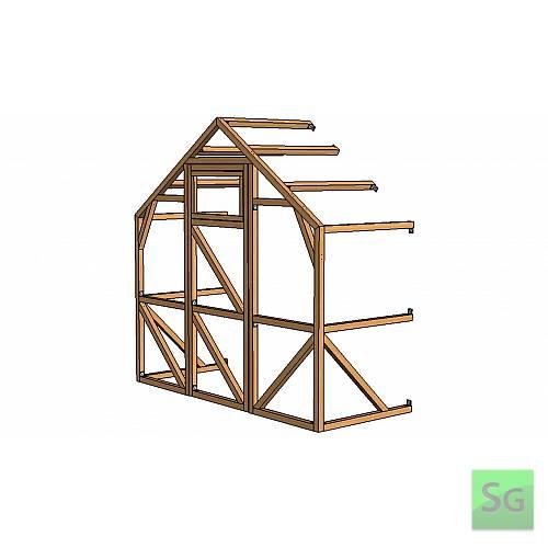 Секция теплицы шириной 2,5 метра с дверью и форточкой:  Секция теплицы шириной 2,5 метра с дверью и форточкой