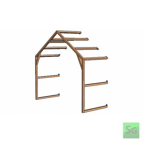 Секция теплицы 2,5х1м без верхней форточки:  Секция теплицы 2,5х1м без верхней форточки