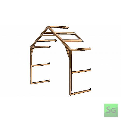 Секция теплицы  2,5х1м с верхней форточкой:  Секция теплицы  2,5х1м с верхней форточкой