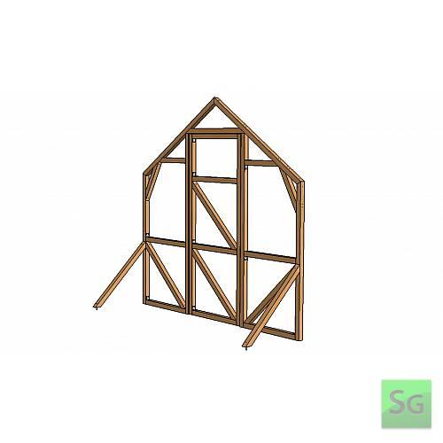 Секция теплицы финишная 2,5 метра с дверью без форточки:  Секция теплицы финишная 2,5 метра с дверью без форточки