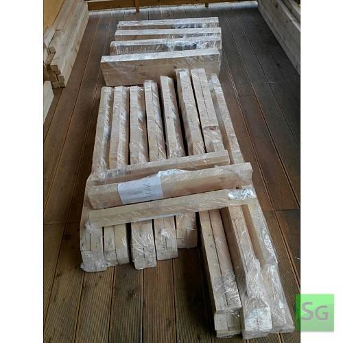 "Теплица деревянная ""Домик"" 2.5х4 м, каркас: Упаковка каркаса теплицы 4 метра"