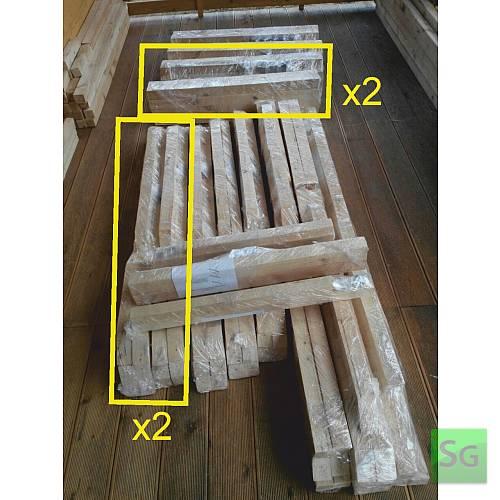 "Теплица деревянная ""Домик"" 2.5х6 м, каркас: Упаковка каркаса теплицы 6 метров"