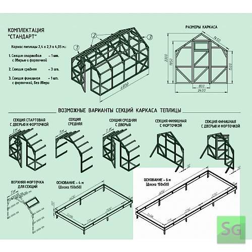 Основание теплицы 2,5х6 м:  Основание теплицы 2,5х6 м
