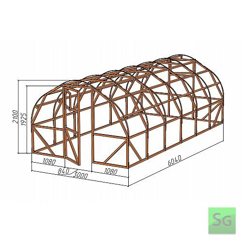 "Каркас деревянный ""АРКА"" 3х6м., под теплицу  :  Каркас деревянный  АРКА  3х6м., под теплицу"