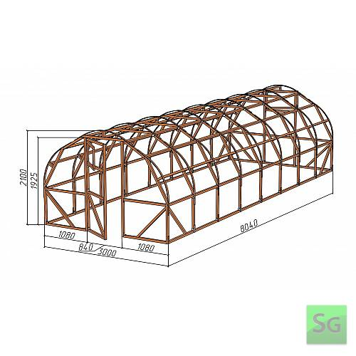 "Каркас деревянный ""АРКА"" 3х8м., под теплицу  :  Каркас деревянный  АРКА  3х8м., под теплицу"