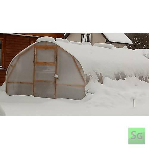 """Каркас деревянный """"АРКА"""" 3х8м., под теплицу  : Благодаря уникальной геометрии сводов, на крыше теплицы не образуется снежной шапки, снег самостоятельно скатывается к основанию."""